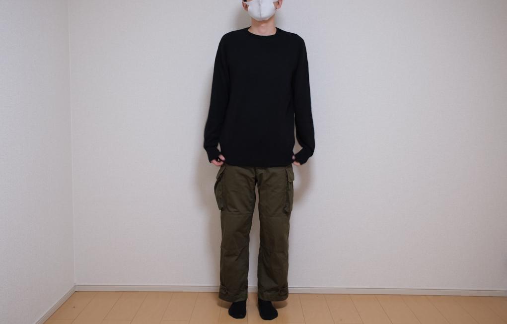 3Dクルーネックセーター(長袖)